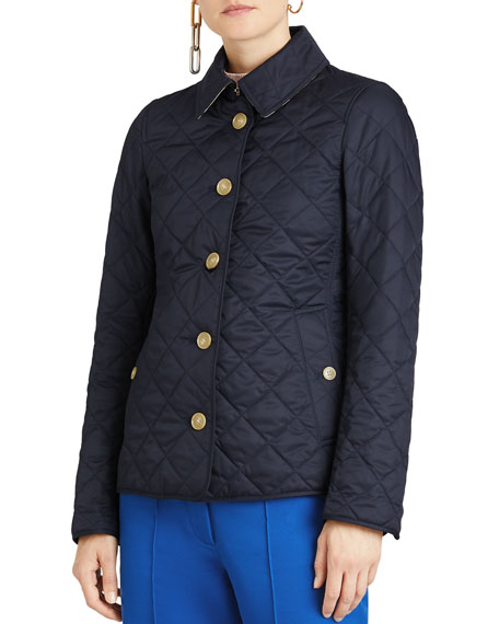 Burberry Diamond Quilted Button-Front Jacket