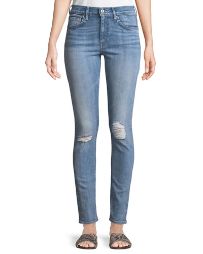 721 Distressed Skinny-Leg Jeans