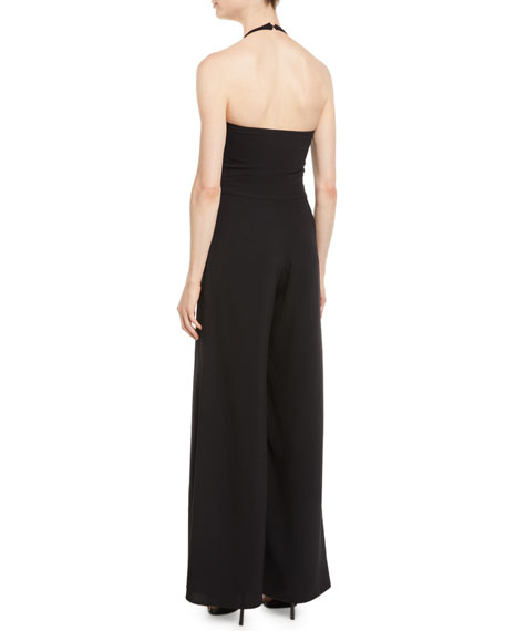 Image 2 of 2: Likely Amaria Wide-Leg Halter Jumpsuit
