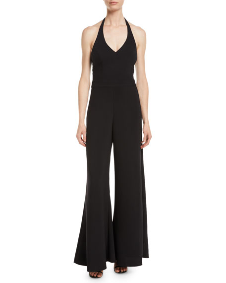 Image 1 of 2: Likely Amaria Wide-Leg Halter Jumpsuit