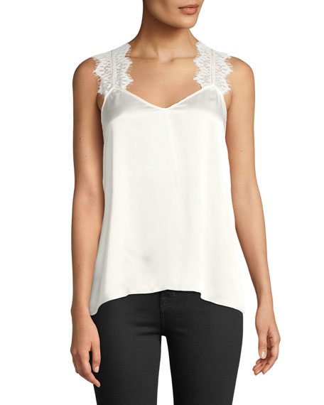 Cami NYC Chelsea Charmeuse Lace Cami