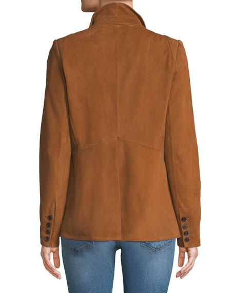Marten Open-Front Suede Jacket