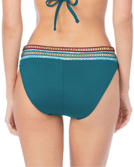 La Blanca Running Stitch Hipster Bikini Swim Bottoms