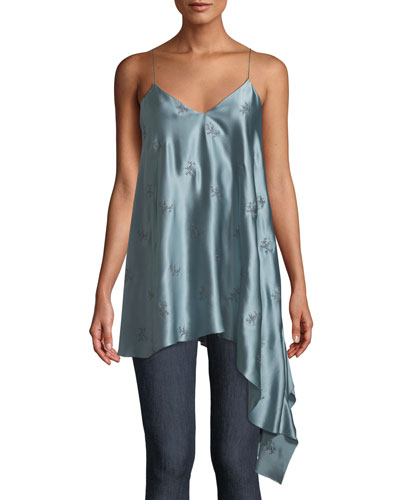 Romeo Embroidered Silk Cami Top