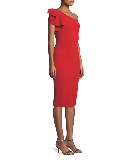 Arminta One-Shoulder Cocktail Sheath Dress