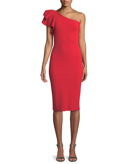 Arminta One-Shoulder Cocktail Sheath Dress
