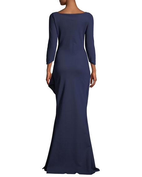 Galin Mermaid Gown w/ Side Drape