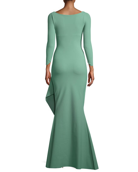 Chiara Boni La Petite Robe Galin Mermaid Gown w/ Side Drape