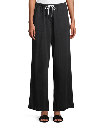 Soft Linen Drawstring Pants