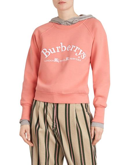 Battarni Oldschool Embroidered Logo Jersey Crewneck Sweatshirt