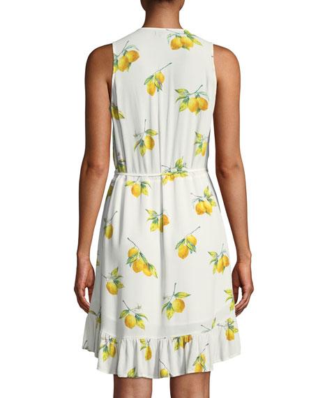 Madison Lemon-Print Wrap Dress
