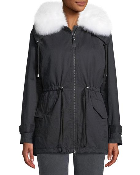 Derek Lam 10 Crosby Oversized Parka Coat w/