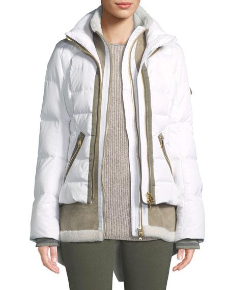 Eyla Three-Piece Combo Coat w/ Detachable Hood