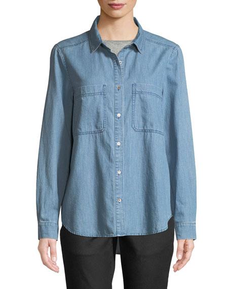 Organic Cotton Denim Pocket Shirt