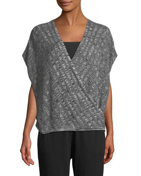 Silk-Blend Cap-Sleeve Sweater