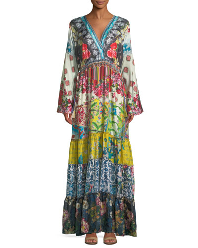 Dibble Silk Georgette Drama Dress, Petite