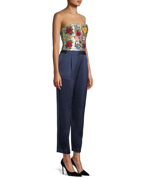 Jeri Embroidered V-Cut Jumpsuit
