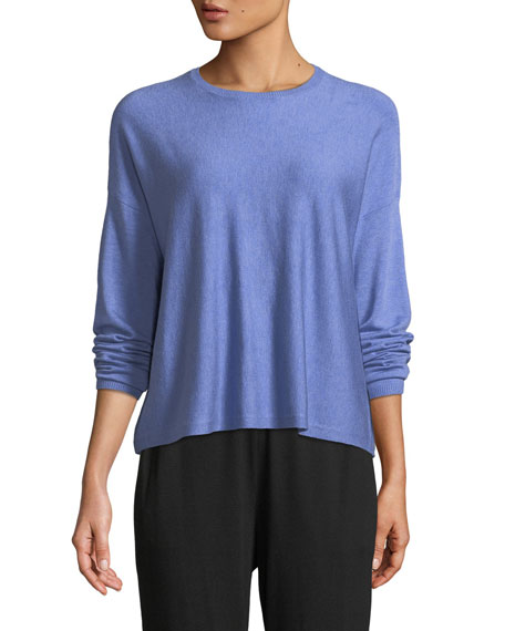 Eileen Fisher Lightweight Cozy Box Top, Plus Size