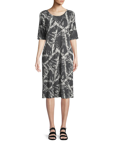 Narcissi Graphic-Print Jersey Dress