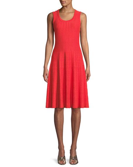 Scoop-Neck Sleeveless Twirl Dress, Plus Size