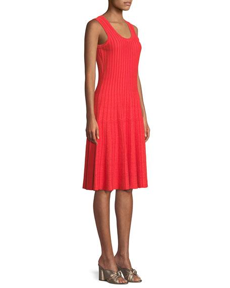 Scoop-Neck Sleeveless Twirl Dress, Petite