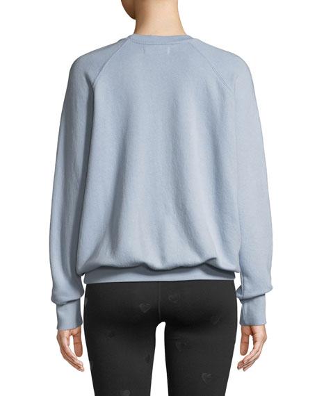 Breathe Deep Slogan Crewneck Pullover Sweatshirt