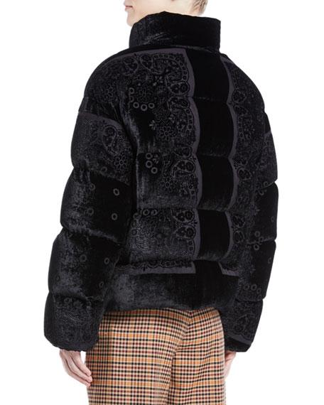 Labbe Velvet Puffer Coat