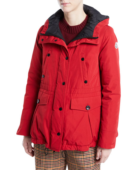 Macareux Parka Coat w/ Removable Fur Trim