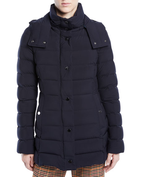Harelde Channel-Quilted Puffer Coat