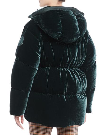 Butor Velvet Puffer Coat