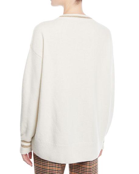 Logo Embroidered Pullover Sweatshirt
