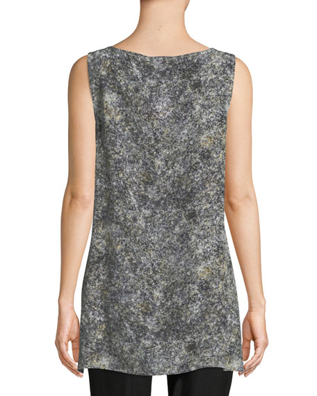 Image 2 of 3: Willow-Print Bateau-Neck Shell Top