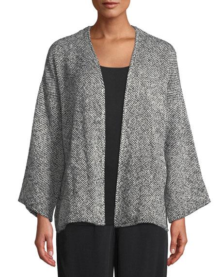 Eileen Fisher Bracelet-Sleeve Cotton Kimono Short Jacket