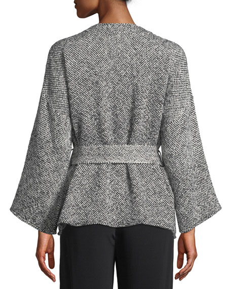Eileen Fisher Petite Bracelet-Sleeve Cotton Kimono Short Jacket
