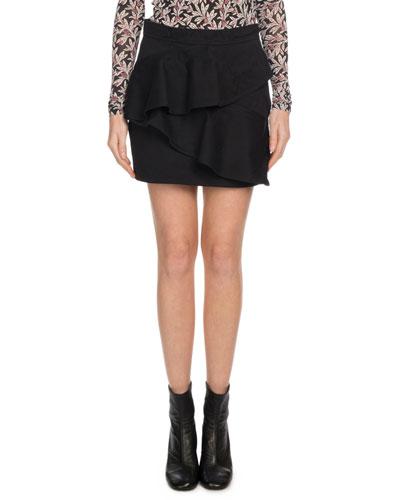 Doali Flounce Cotton Mini Skirt