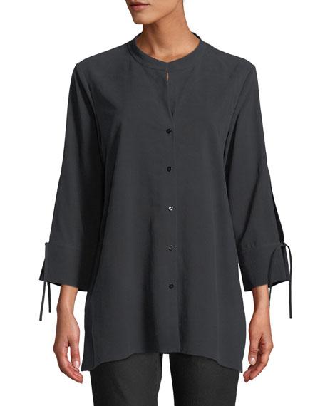 Fuji Silk 3/4-Sleeve Blouse, Petite