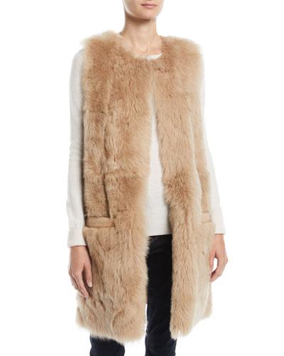 Reversible Leather & Lamb Fur Vest