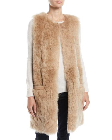 Pologeorgis Reversible Leather & Lamb Fur Vest