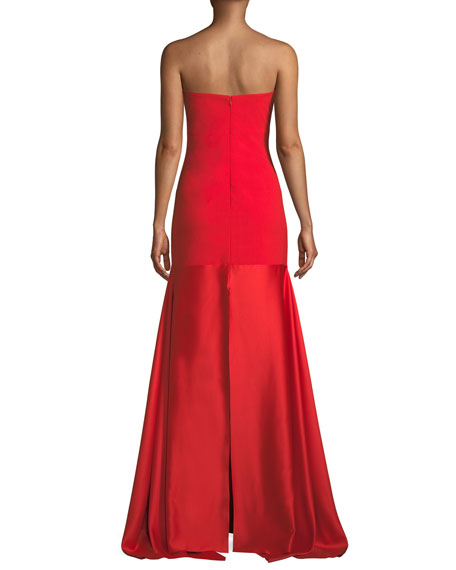 Solace London Allesandra Strapless Floor-Length Formal Dress