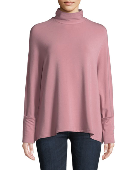 Cowl-Neck Jersey Top
