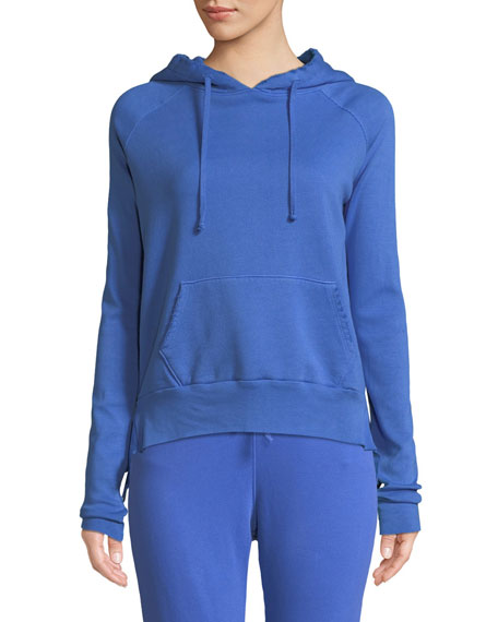 Hooded Cotton Fleece Pullover Sweater