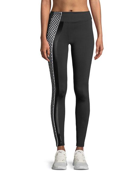 Koral Activewear Teazer High-Rise Contrast Mesh Paneling Leggings