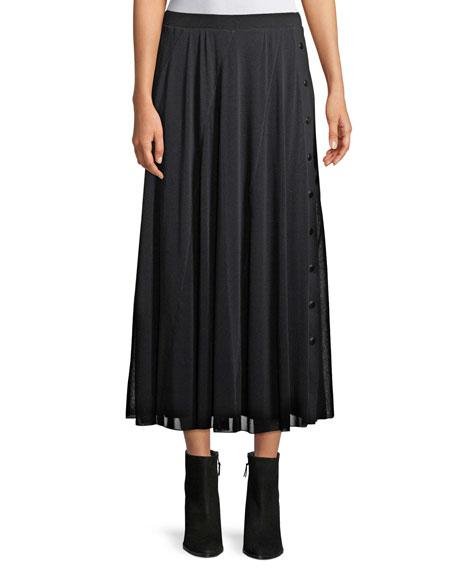 Fuzzi Full Tulle Skirt with Side Snaps