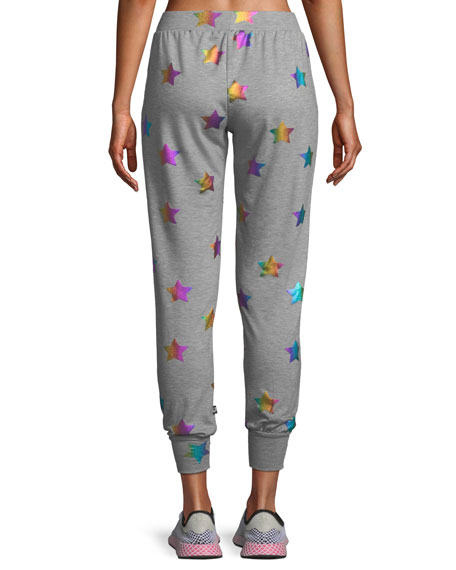 Terez Star Foil Printed Jogger Pants