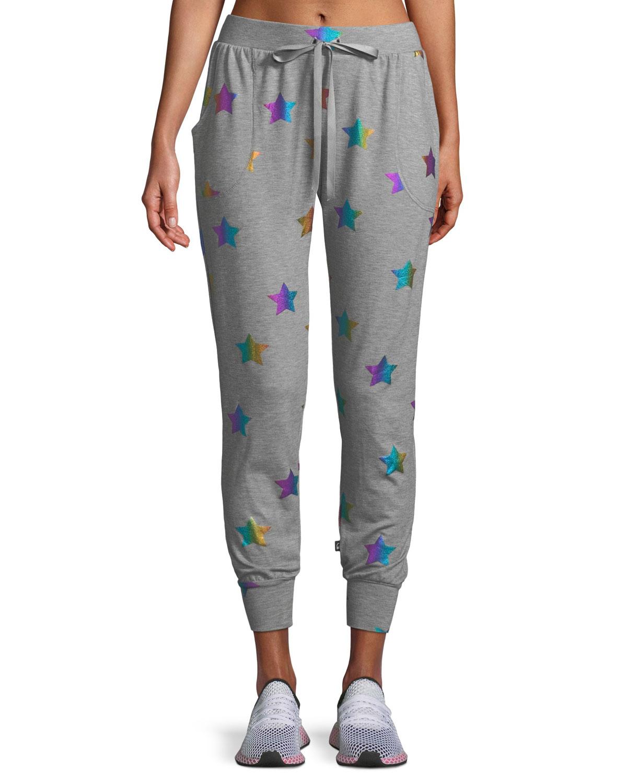 a2b2500668 Star Foil Printed Jogger Pants
