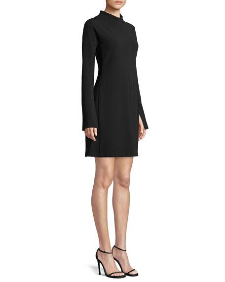 1039a7739d Theory Mock-Neck Long-Sleeve A-Line Admiral Crepe Mini Dress ...