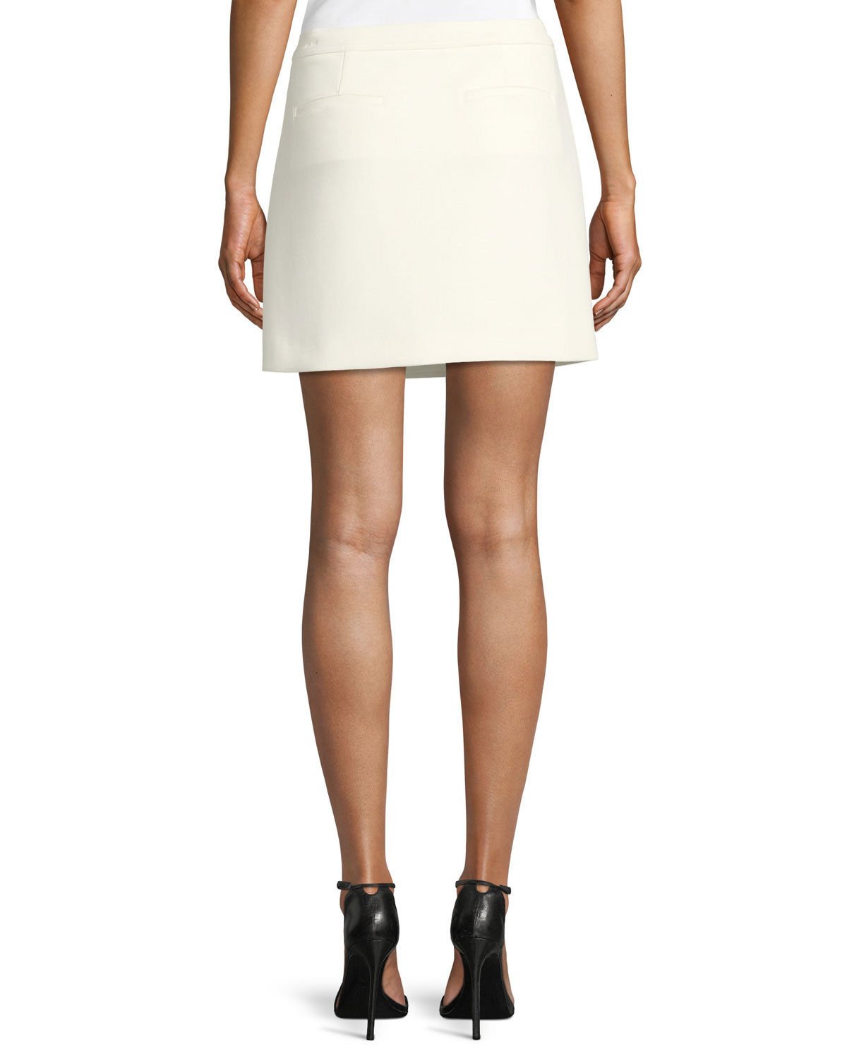 Draped A Line Mini Skirt by Theory