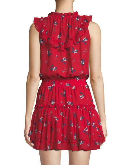 Milaya Ruffle Floral Mini Dress
