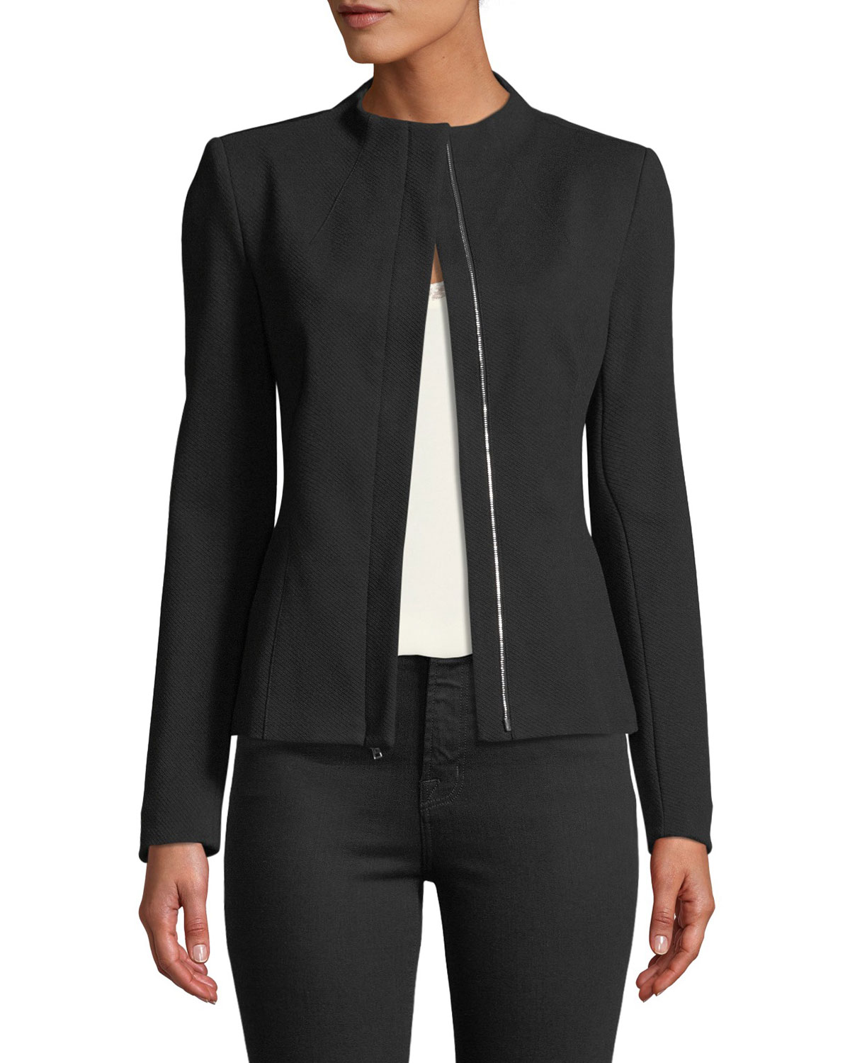 40fa980687 Theory Sculpted Knit Twill 2 Jacket | Neiman Marcus