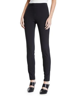 30c5d3d89755 Theory High-Waist Side-Zip Leggings - Recycled Becker